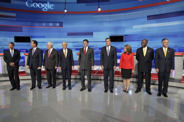 Image: Republican presidential candidates in Orlando, Fla.