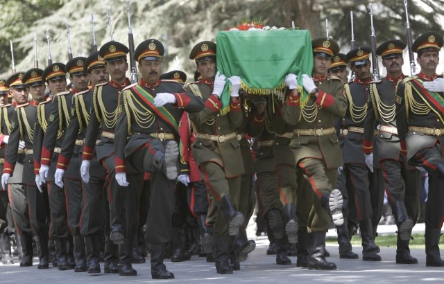 Image: The coffin of Afghan former president Burhanuddin Rabbani