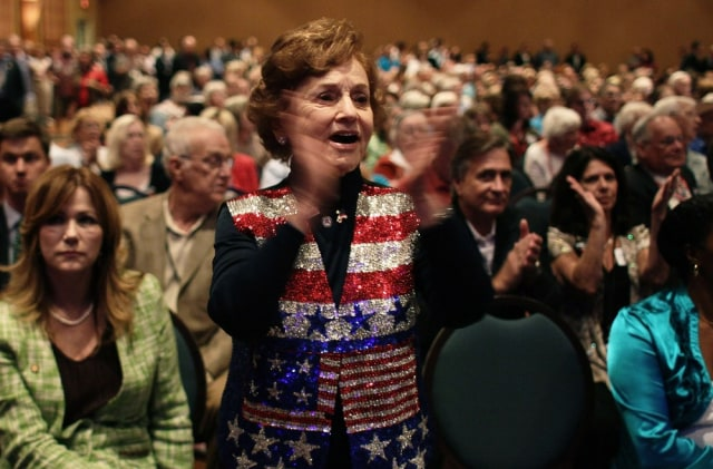 Image: Tea Party member Consuelo Otero at rally in Orlando, Fla.