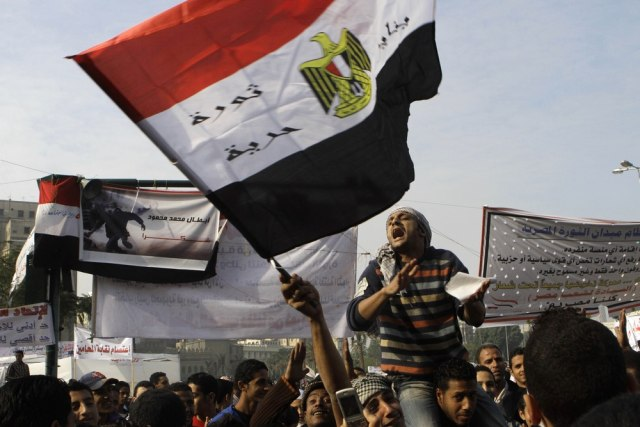 Image: Protesters in Cairo's Tahrir Square on Sunday