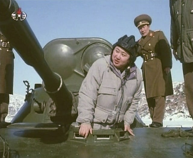 Image: Kim Jong Un inspects an armored vehicle