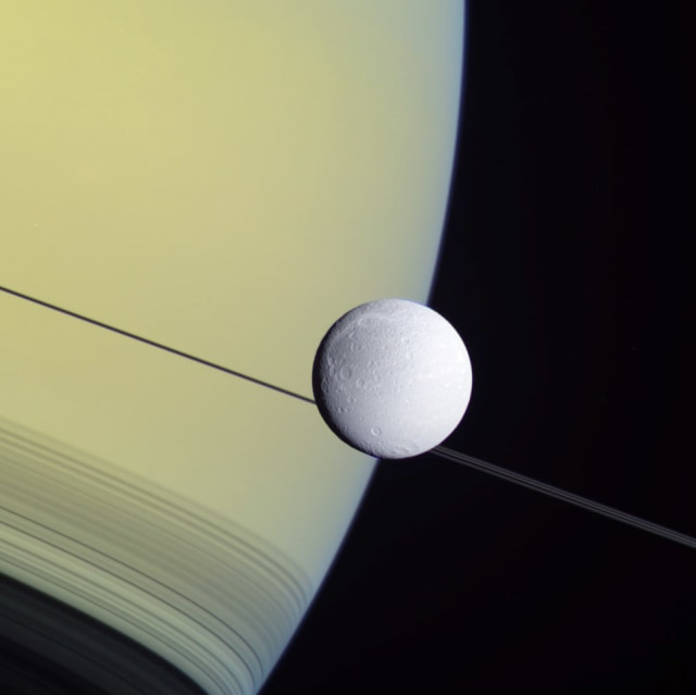 Image: Dione and Saturn