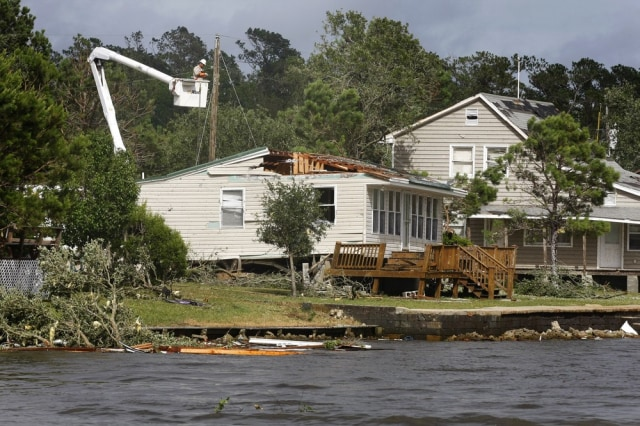 Image: Home damaged by twister