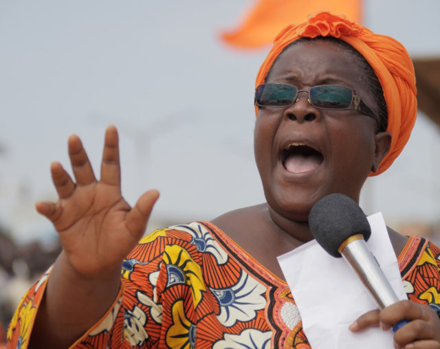 Image: Isabelle Ameganvi calls on Togo's women to observe a one-week sex strike