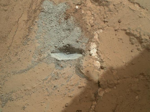 Image: Mars drill at work
