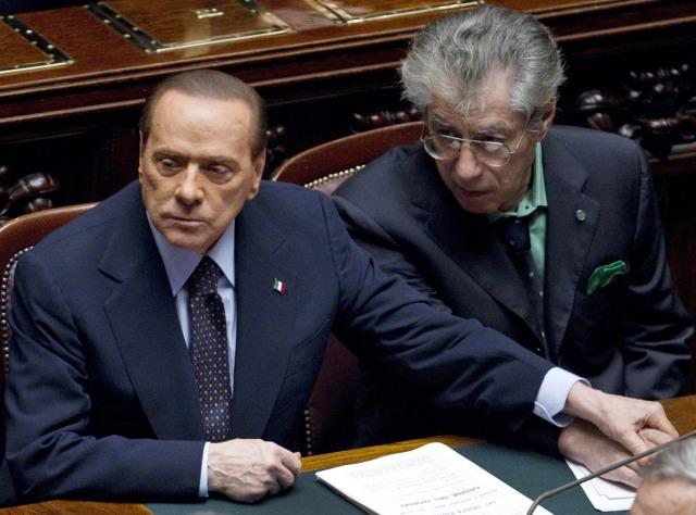 Image: Silvio Berlusconi, Umberto Bossi