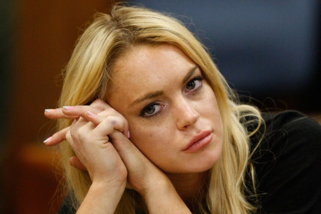 Image: Lindsay Lohan in court