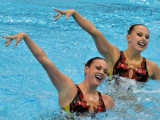 Image: Mary Killman, left, and Mariya Koroleva