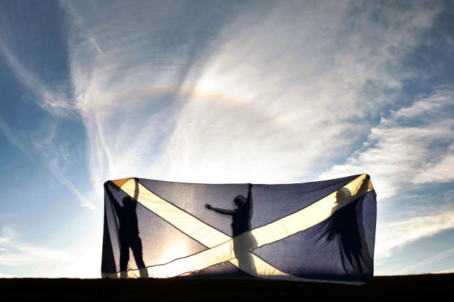 Image: Scotland's flag in Glenrothes, Fife