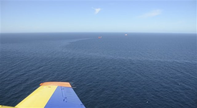Image: Oil sheen in North Sea
