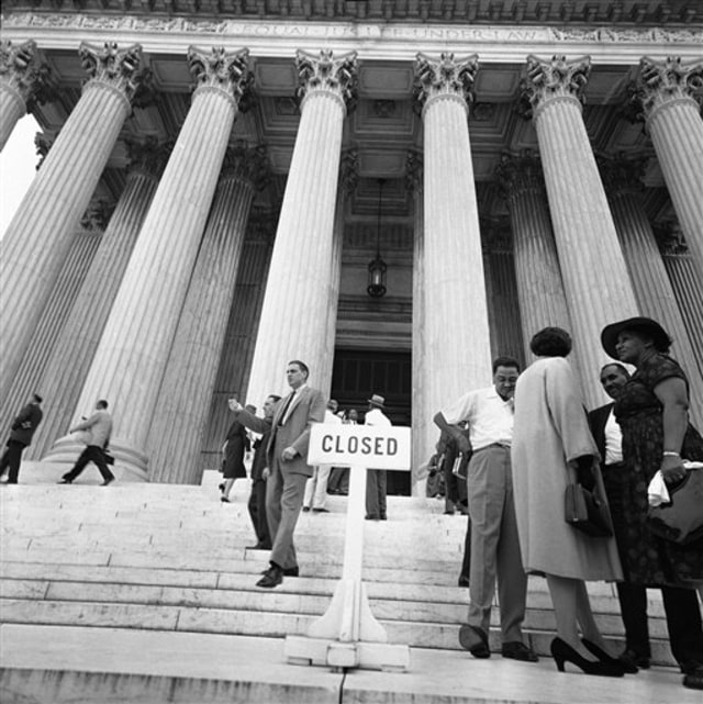 Image: Supreme Court entrance, 1958
