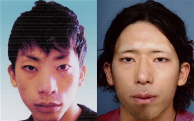 Image: Tatsuya Ichihashi, before, left, and after cosmetic surgery