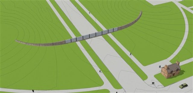 Image: Illustration of proposed barrier on National Mall