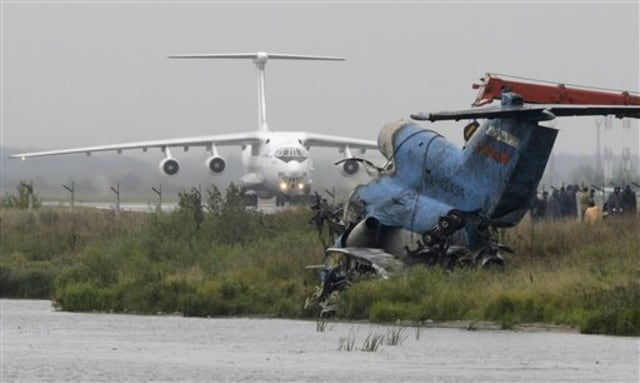 Image: Wreckage of Russia jet crash