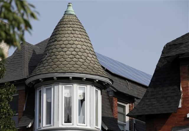 Image: Solar panels on home's roof