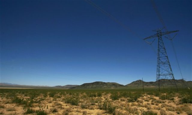 Image: Power line on federal land sited for solar power