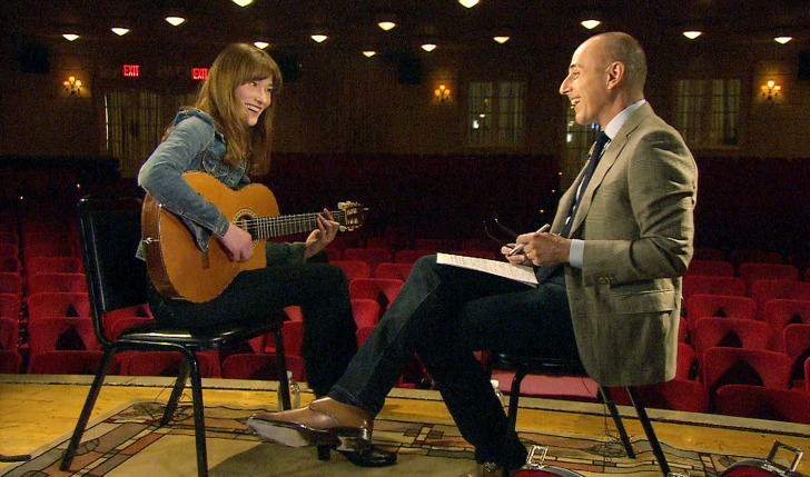 Related video Carla Bruni to Matt Lauer: I don't miss politics