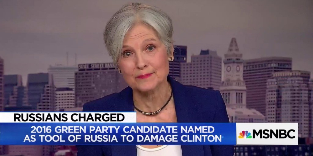 Jill Stein reacts to Mueller indictment showing Russian support