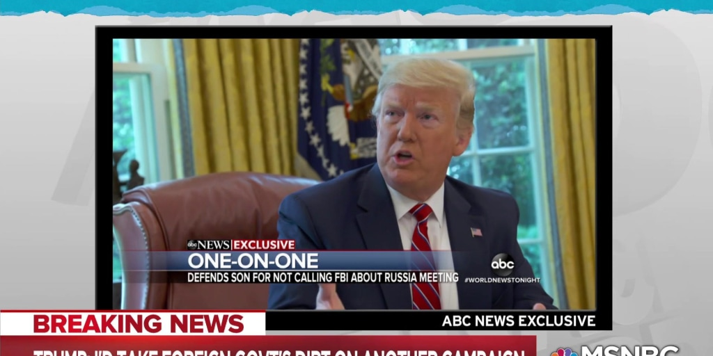 Trump unchastened by Russia affair, still open to foreign help