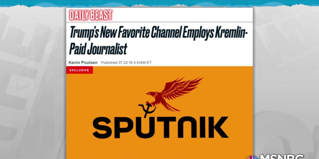 Staffer on Trump-favored network is on propaganda Kremlin payroll