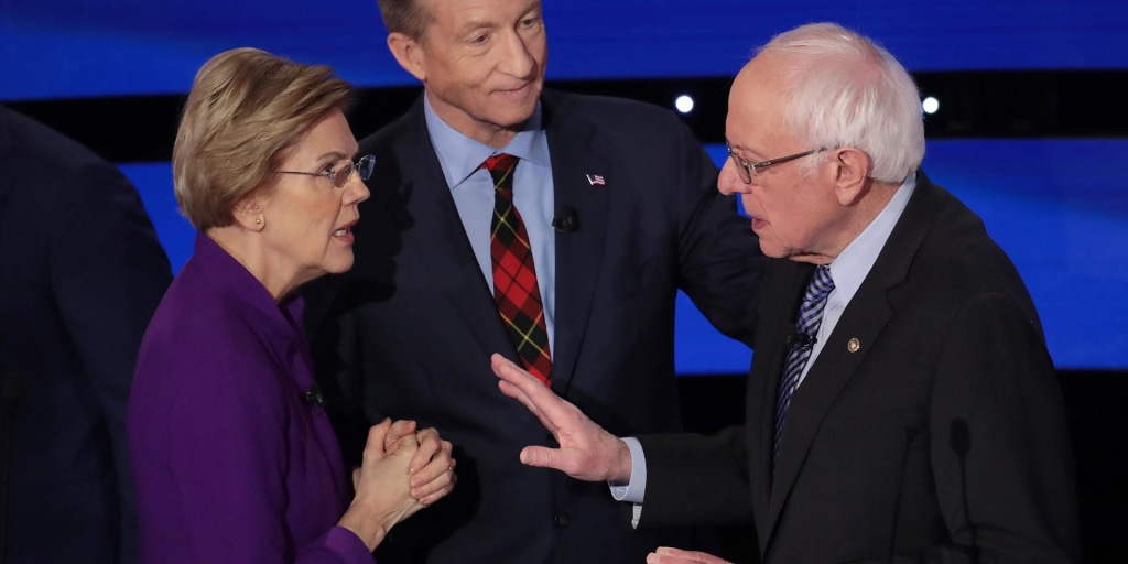 Warren and Sanders appear not to shake hands after debate