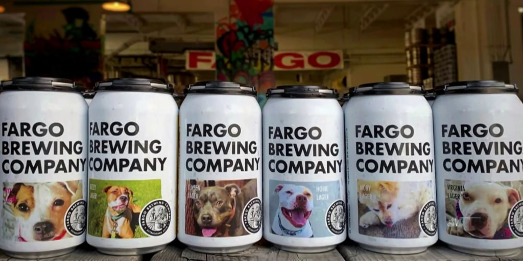 North Dakota brewery using beer cans to help dogs find forever homes