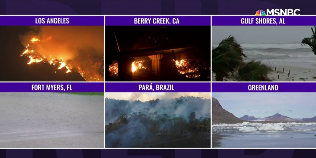 Climate change impossible to ignore with wildfires, active hurricane season