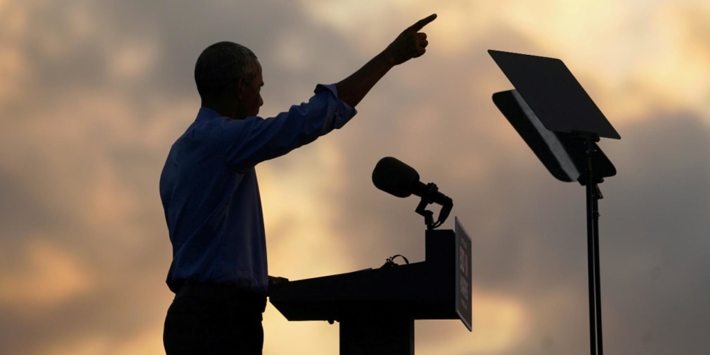 Obama stumps for Biden as Trump ignores Covid risk at huge rally