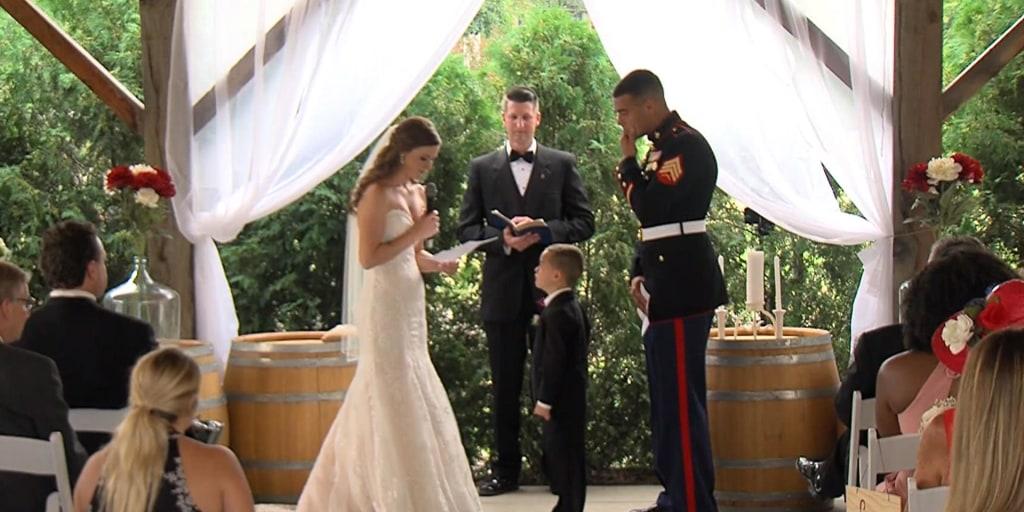 Watch Marine S Son Tearfully Hug His New Stepmom As She Reads