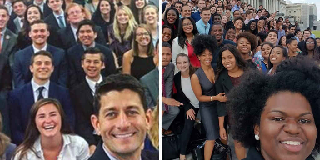 GOP and Dem Intern Class Photos Show Diversity Differences