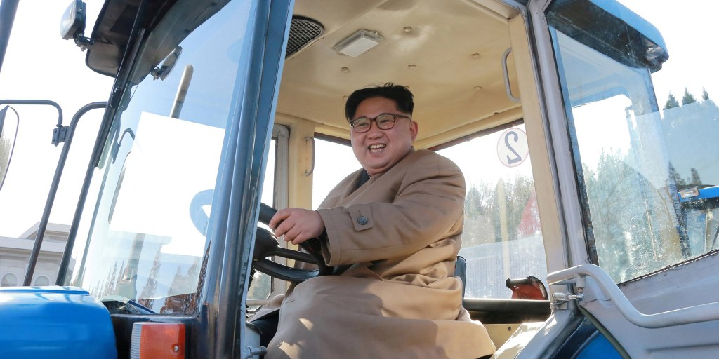 Image result for kim jong un driving a tractor