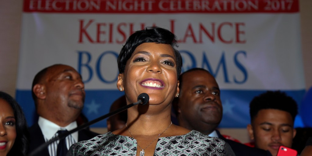 With long campaign behind her, Atlanta's new mayor sworn in