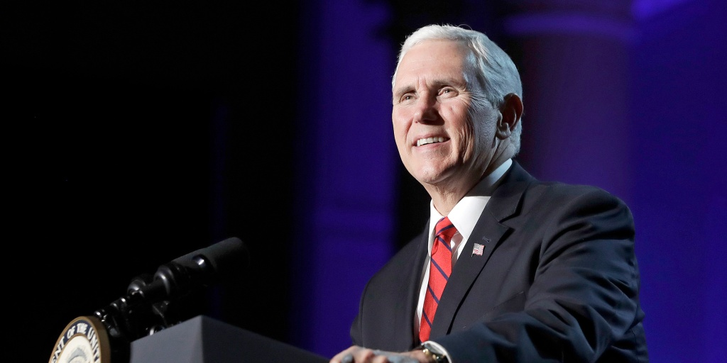 Mike Pence toils for 2018 victories in place of a distracted Trump