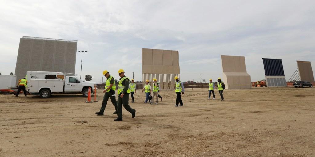 Trump visits California to see wall prototypes near Mexico border