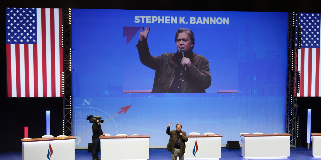 Bannon tells French far-right party to 'let them call you racist' as it seeks rebrand