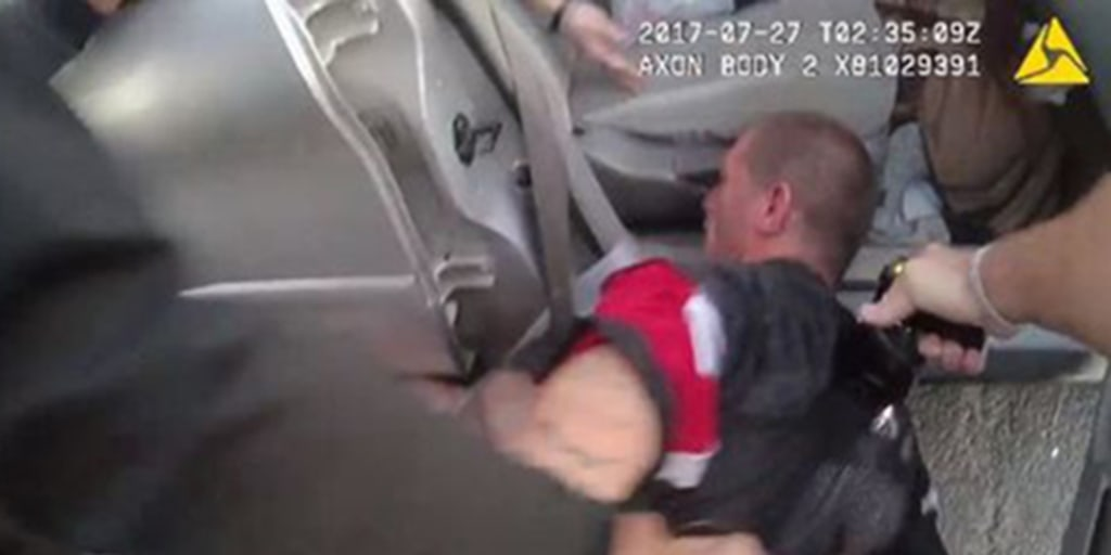 Man repeatedly tased by officers at traffic stop in front of family, video shows