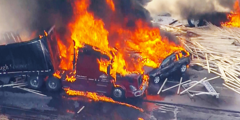 Truck driver in fiery Colorado crash charged with 40 counts