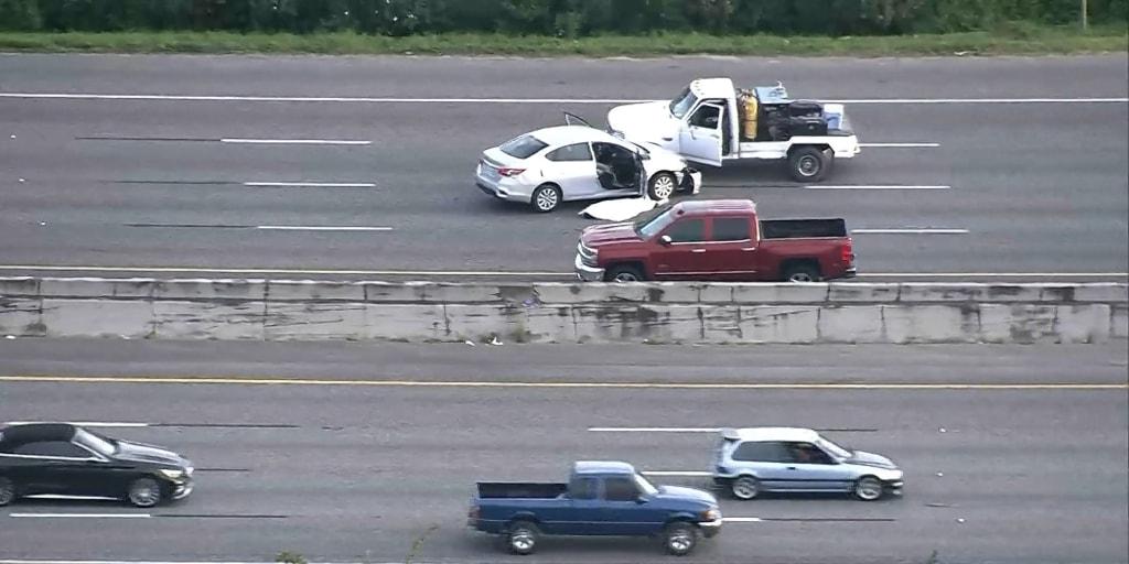 Two men shot dead on Houston freeway at rush hour