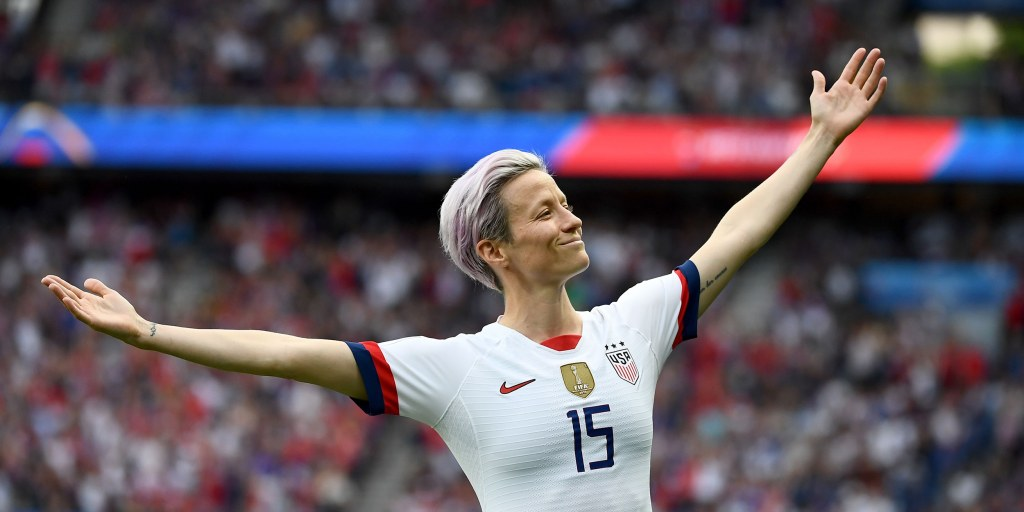 America's Megan Rapinoe named the top women's soccer player of 2019