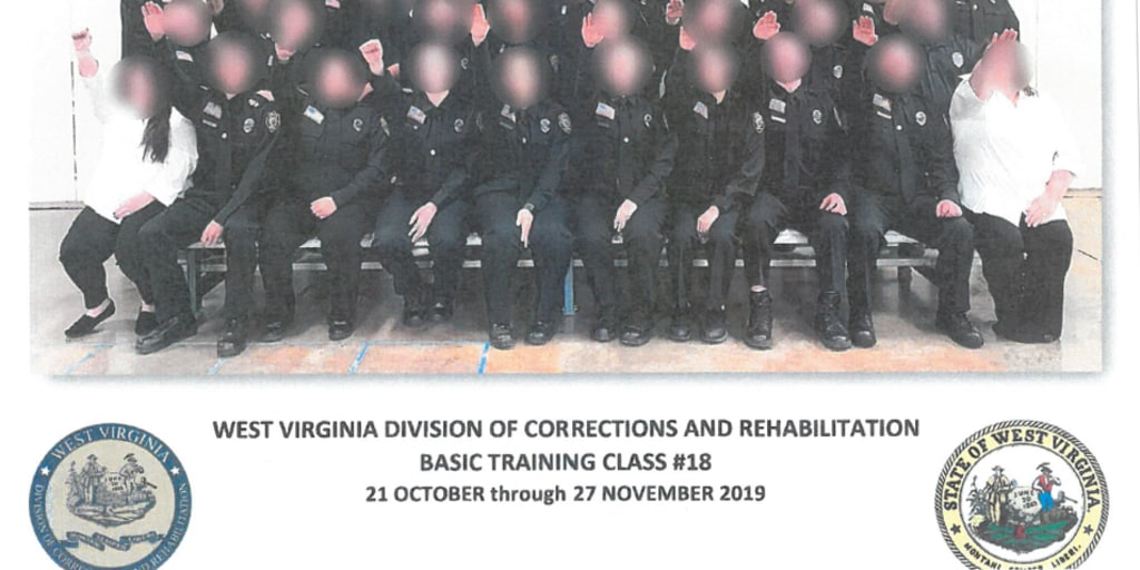 West Virginia corrections employees suspended after Nazi salute photo