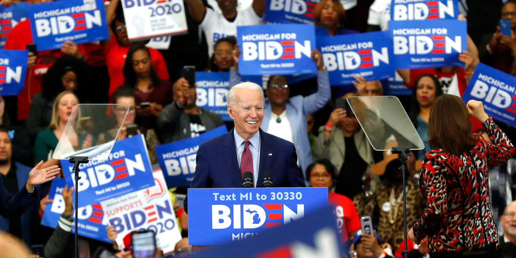 Biden secures Democratic presidential nomination for November showdown against Trump