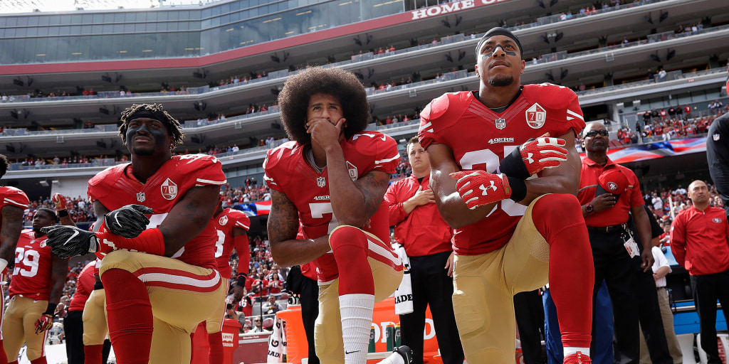 Goodell says NFL was wrong not to encourage players to protest peacefully