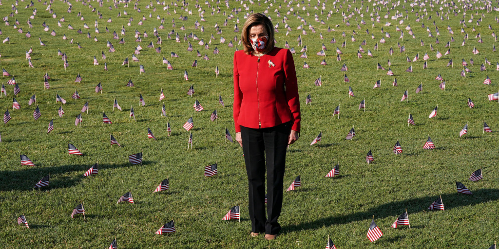 'This was preventable,' Pelosi says at memorial in DC for coronavirus victims