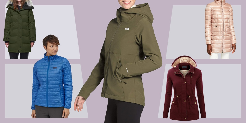 Women Zip Padded Long Sleeve Fur Hooded Outwear Top Winter Parka Jacket Overcoat