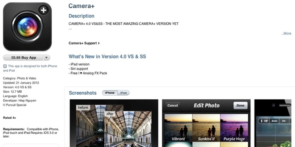Fake camera app for iPhone pulled from App Store