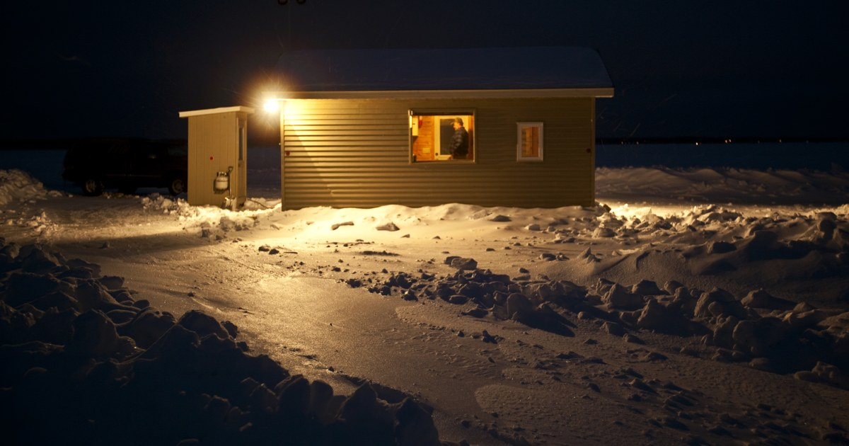 Roughing it' in Mille Lacs fish houses on
