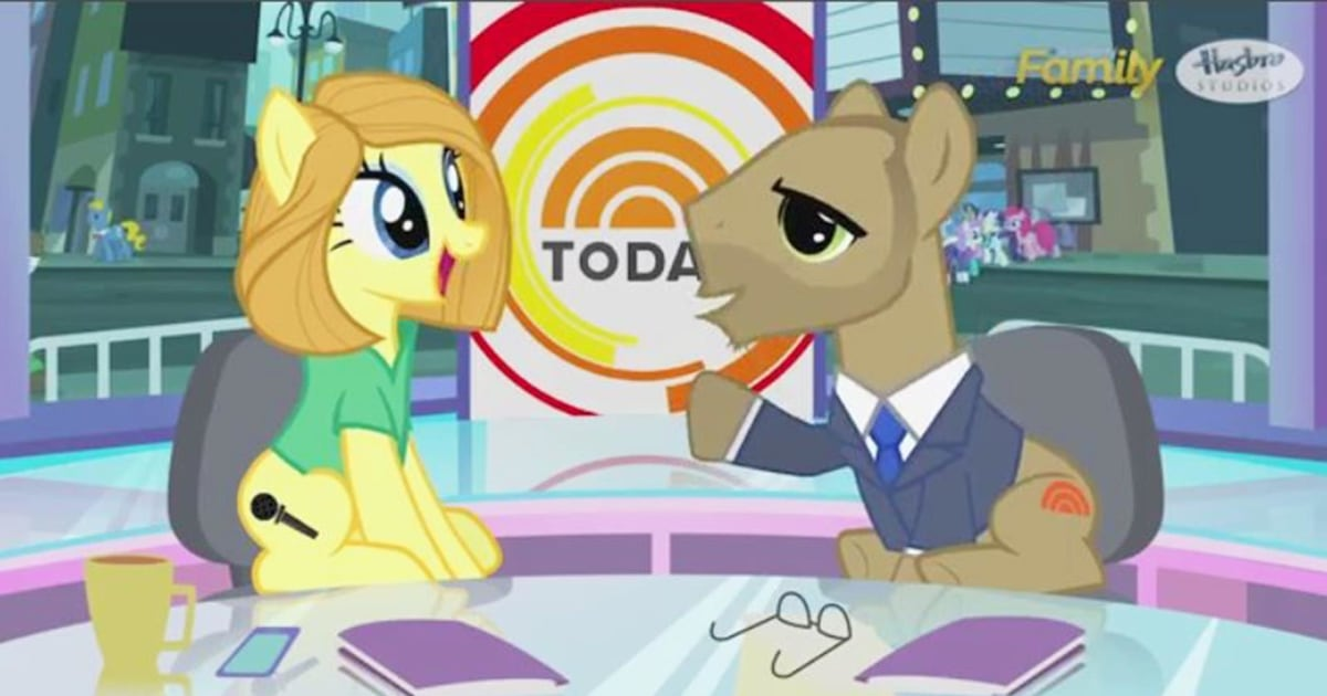 Watch today 39 s matt and savannah reimagined as 39 my little pony 39 characters nbc news for Little pony watches