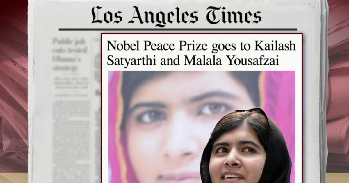 Malala shares this year's Nobel Peace Prize