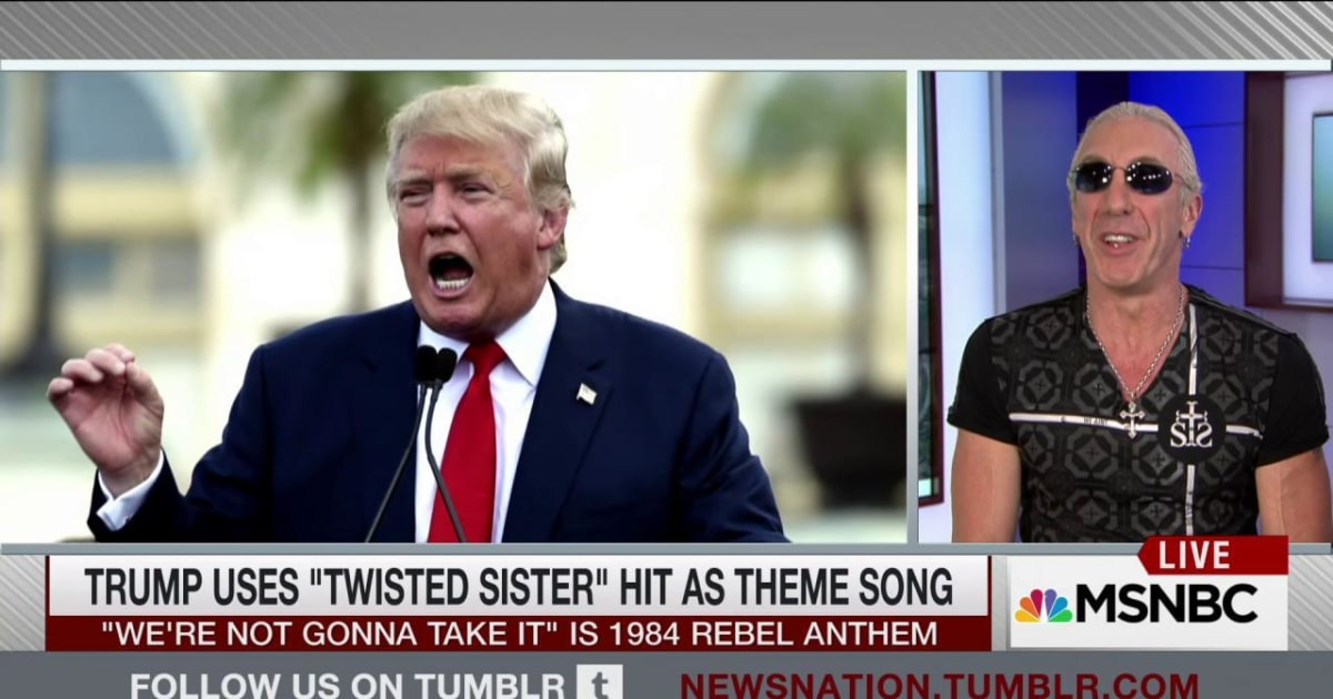 Trump uses 'Twisted Sister' hit as campaign theme song