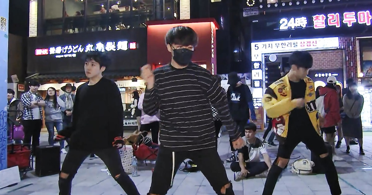Seoul's university district echoes to the sound of K-pop dance teams